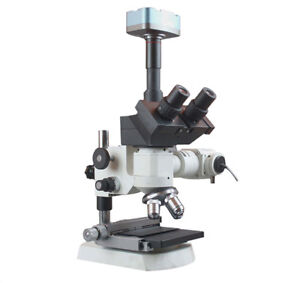 1200x Trinocular Metallurgy Microscope Xy Stage 5mp Camera Measuring Software