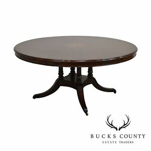 Theodore Alexander Flame Mahogany Regency Style Dining Table