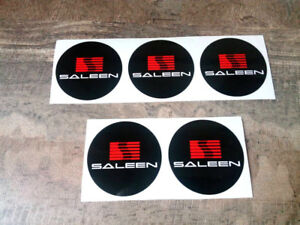 5 Pcs X Small Saleen Ford Mustang Wheel Caps Center Decals