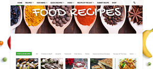 Established Profitable Cooking Recipes Dropship Business Website Autoupdating