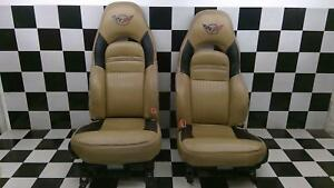97 04 Chevy C5 Corvette Power Memory Sport Seats Oak Pair Left Right