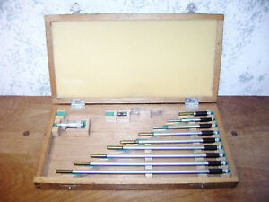 Mitutoyo Id Inside Micrometer Set No 141 133 W Wood Case 2 12 Inches