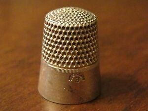 Antique Simons Bros Sterling Thimble Size 9 No 3
