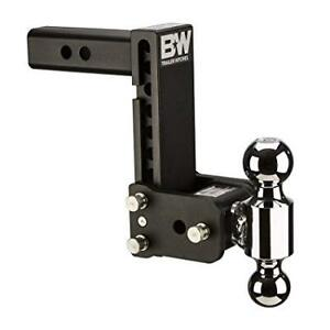 B W Tow And Stow Hitch Ball Mount 7 Drop 7 1 2 Rise Dual Ball Ts10040b