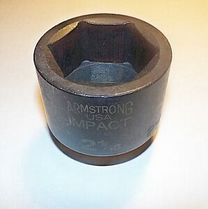 2 1 16 Inch Armlstrong Usa 1 Inch Drive Impact Socket 6 Point 21 066