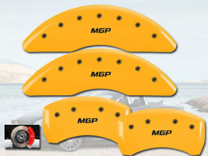 2014 2017 Mercedes Benz S550 Front Rear Yellow Mgp Brake Disc Caliper Covers