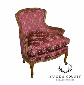 French Louis Xv Style Custom Upholstered Bergere Club Chair