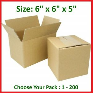6x6x5 Cardboard Packing Mailing Gift Moving Shipping Boxes Corrugated Box Carton