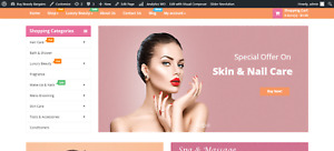 Beauty Shop Turnkey Amazon Dropship Profitable Beauty Niche Online Website