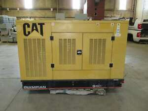 40kw Olympian G40f3 Natural Gas propane Standby Generator Running Takeout