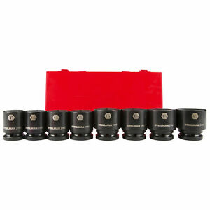 Steelman Pro 79237 8 Pc 3 4 In Drive 6 Point Impact Sae Socket Set