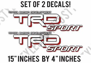 Trd Sport Toyota Racing Development Fits Tundra Tacoma Vinyl Decal Sticker Pair