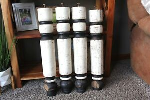 Vintage Table Legs Heavy Duty 25 1 2 Black White Old Furniture Salvage Piece
