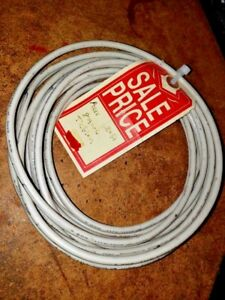 20 Ft 8 Awg Teflon Insulated Wire White
