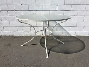 Vintage Patio Table Dining Indoor Outdoor Mid Century Modern Iron Furniture Mcm