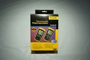 Fluke 52 Ii 60hz Dual Input Thermocouple Thermometer With Type K Probes