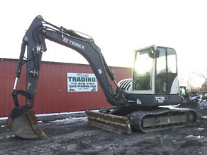 2014 Terex Tc75 Midi Hydraulic Excavator W Cab Only 600 Hours Coming Soon