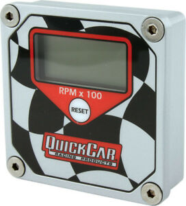 Quickcar Racing Products Lcd Tachometer Checkered Flag Face P n 611 099