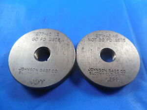 277 40 Ns Thread Ring Gages 0 277 Go No Go P d s 2608 2575 Inspection