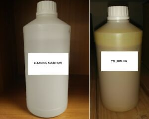Yellow Sublimation Ink Refill Sublimation Cleaning Solution Refill Epson Mutoh