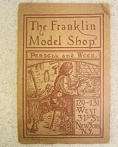 Parsell And Weed Franklin Shop Hit And Miss Engine Model Flyer Pamphlet 1900s