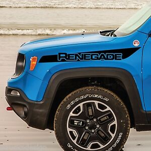 Jeep Renegade Hood Stripe Logo Graphic Vinyl Decal Sticker Side Reflective Camo