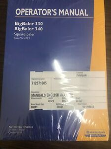 New Holland Operators Manual Big Baler 330 340 L
