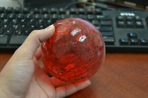 Reproduction Red Hand Blown Glass Float Ball Buoy 4 F 508c