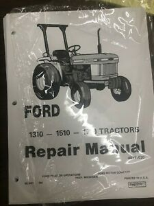 Ford Repair Manual 1310 1510 1710 Tractors L