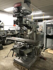 Nice Later Model 11x58 4hp Bridgeport Series Ii Vertical Mill