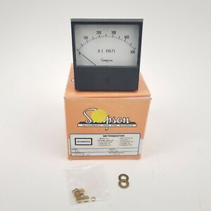 Simpson Analog Panel Instrument 500dcv Voltmeter 2123 No Main Post Nuts