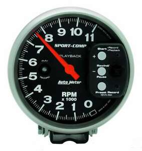 Auto Meter 5in S C 11000 Rpm Playback Tach P N 3967