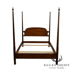 Stickley Solid Cherry Full Size Pencil Point Poster Bed