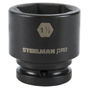Steelman Pro 3 4 In Drive 1 1 2 In 6 Point Impact Socket 79245