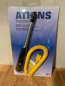 New Atkins Thermocouple Probe Type K 50318 k Coiled Cable 40 To 1 202 F