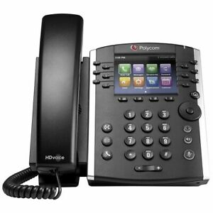 New Polycom Vvx 411 Ip Phone Voip 12 Line Poe With Power Supply 2200 48450 001