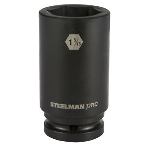 Steelman Pro 79269 3 4 Inch Drive X 1 5 16 Inch 6 Point Deep Impact Socket