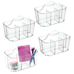 Mdesign Small Office Storage Organizer Utility Tote Caddy Holder With Handle