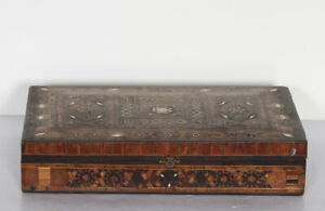 Hand Carved Wooden Box With Inlay Work