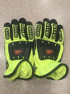 Dragon Fire Bloodborne Path Firefighter Extrication Glove Large Neon Yellow