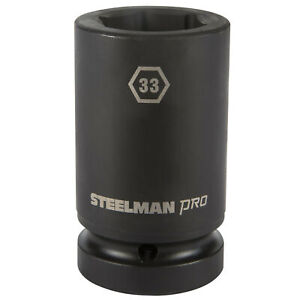 Steelman Pro 79292 1 Inch Drive X 33mm 6 Point Deep Impact Socket