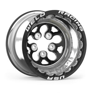 Weld Racing 15x15 Blk Alpha 1 Wheel 5x4 750bp 4in Bs Blk Dbl P N 83b 515278mbs