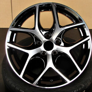 Ford Focus Svt Style 17x7 5x108 Et50 Black Machined Face Wheel Set 4 Rims