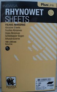 Indasa Plus 1000 2000 Grit Half Sheets Wet dry Sandpaper 2 Packs Of 50