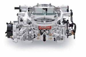 Edelbrock 18014 Thunder Series 500 Cfm Avs Carburetor W Endurashine Finish