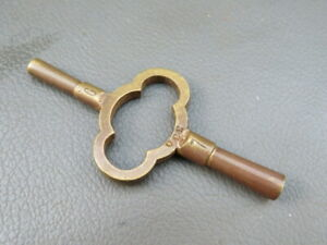 Vintage Brass Carriage Clock Key 6 7 Spares Parts