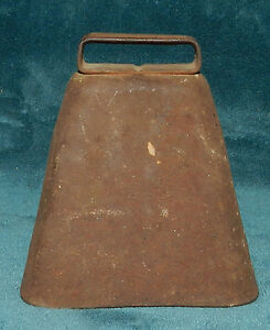 Awesome Antique Vintage Rusty Metal Cow Bell Bull Livestock