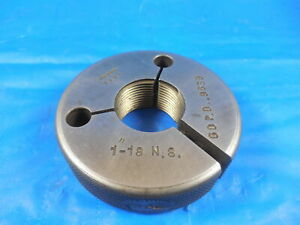 1 18 Ns Thread Ring Gage 1 0 Go Only P d 9639 Quality Inspection Tool