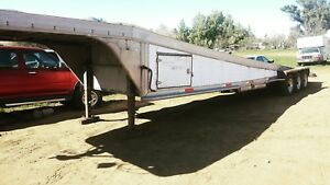 Aluminum 3 Car Trailer Flatbed Gooseneck 5th Wheel Car Hauler Equipment Towing