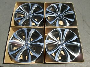 20 Lexus Rx350 Rx330 Wheels Rims Set Rx 350 450 Brush Silver Rims Oem Original